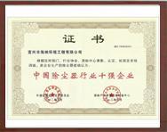 中国除尘器行业十强企业